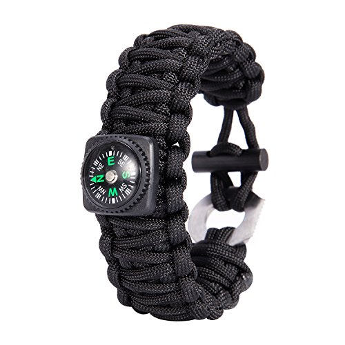 Gonex-Paracord-Survival-Bracelet-Outdoor-Camping-Survival-Gear-Kit-Parachute-Cord-Buckles-with-CompassFire-StarterEye-Knife
