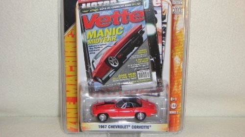 GREENLIGHT 1:64 SCALE VETTE MAGAZINE EDITION RED 1967 CHEVROLET CORVETTE DIE-CAST COLLECTIBLE by Greenlight (Vette Corvette Magazine Car)