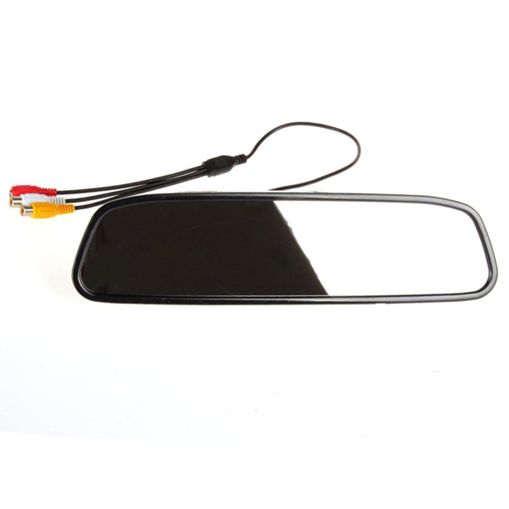 PolarLander 4.3Moniteur Car Mirror Couleur TFT LCD avec Vue arri/ère Syst/ème daide au stationnement 170 degr/és Angle cam/éra /étanche Voiture