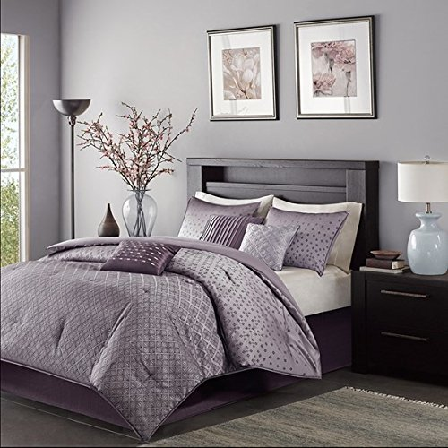 King Madison Comforter - Madison Park MP10-920 Biloxi 7Piece Comforter Set King , Purple, King,Purple,King