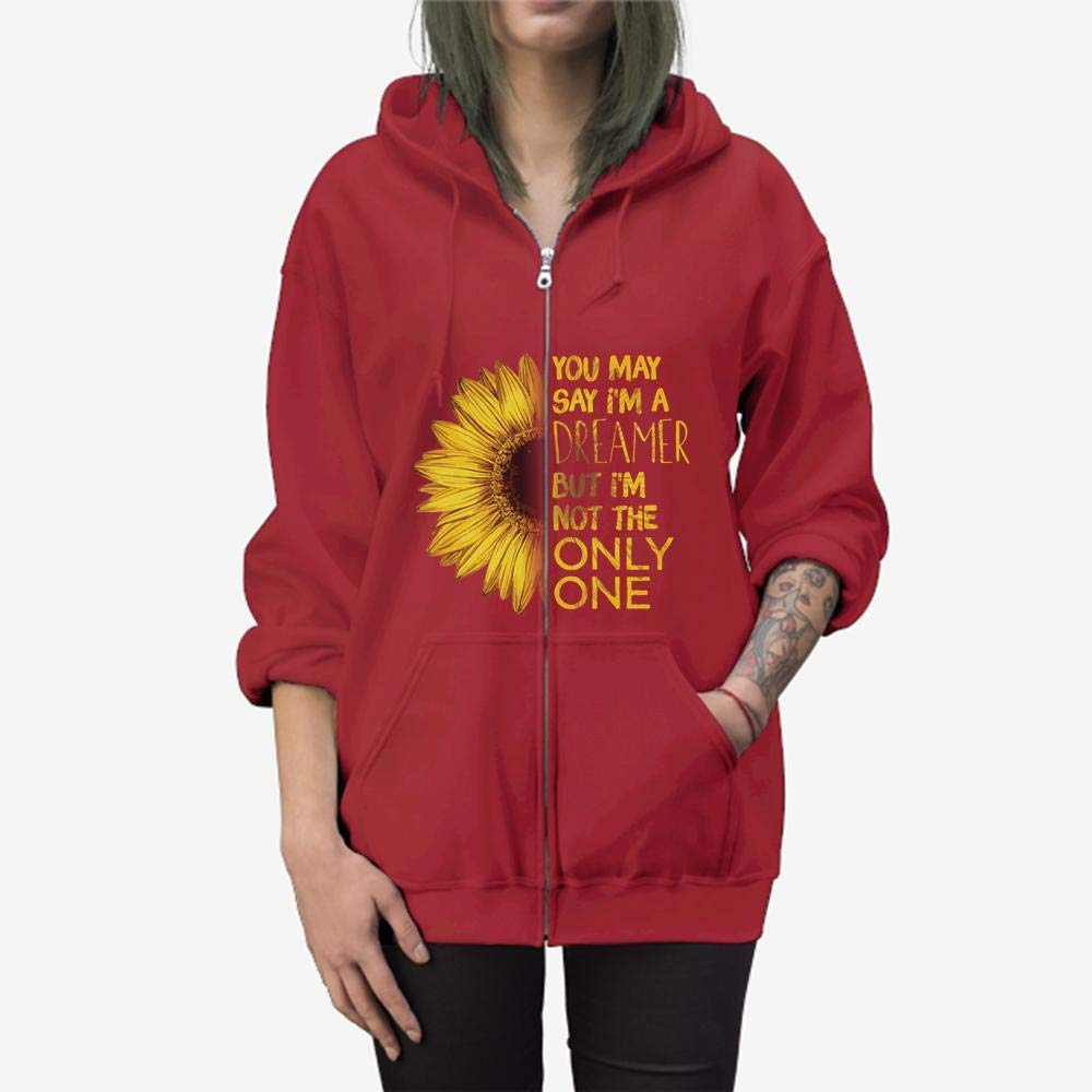 I/_m a Dreamer I/_m not The Only One Zip Hooded Sweatshirt