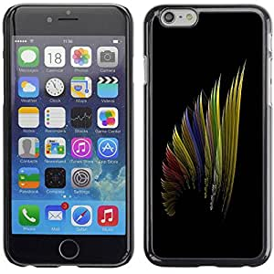 Carcasa Funda Prima Delgada SLIM Casa Case Bandera Cover Shell para Apple Iphone 6 Plus 5.5 / Business Style Art Wing Color Design Pattern Rainbow