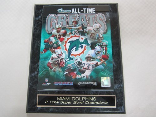 Miami Dolphins All Time Greats Collector Plaque w/8x10 ()