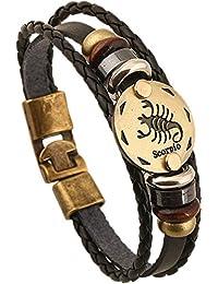 HCHIDS Alloy Leather Bracelet For Men Constellation...