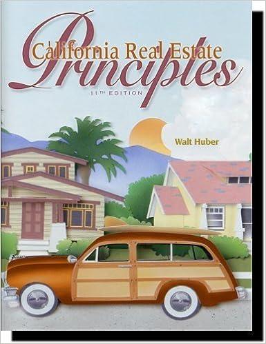 Book California Real Estate Principles by Walt Huber (2004-05-03)