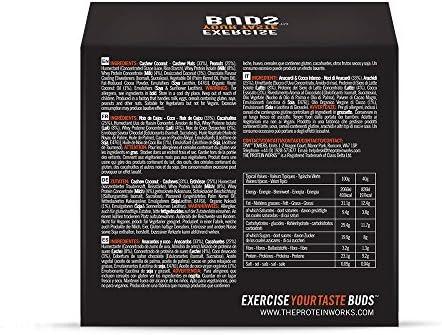 Protein Nutties / CASHEW COCONUT / von THE PROTEIN WORKS / 12er Box / Ultimativ-leckerer, energieliefernde Snack