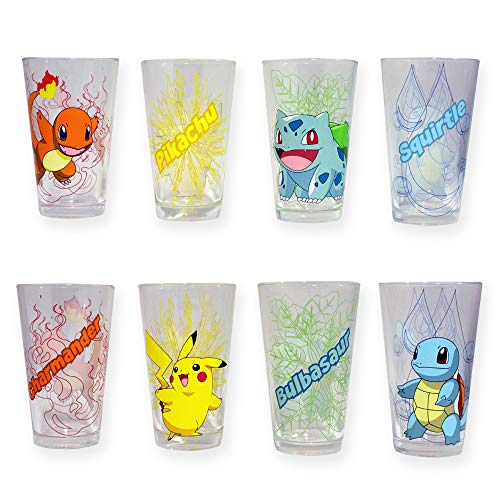 Set of Four Officially Licensed Pokémon Pint Glasses
