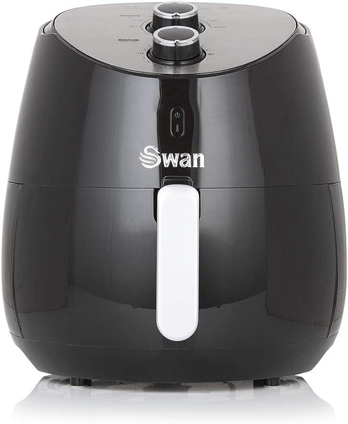 Freidora Swan saludable, bajo contenido en grasa, rápida circulación del aire Manual 5L 5 litros negro: Amazon.es: Hogar