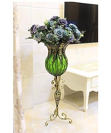 Amazon.de: Vase Vase Das Wohnzimmer des Kreativen hohe Fuß Landung ...