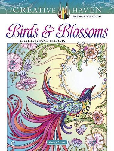 Creative Haven Birds and Blossoms Coloring Book