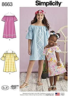product image for Simplicity Pattern 8663 Girls' Dresses size 7-14