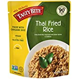 Tasty Bite Rice Thai Fried 8.8 Ounce 6 Count, All Natural Made with Organic Rice, Seasoned Rice Entrée, Fully Cooked, Ready to Serve, Microwaveable, Vegan Gluten-Free No Preservatives