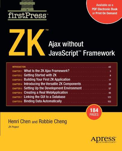 ZK: Ajax without the Javascript Framework (FirstPress) by Brand: Apress