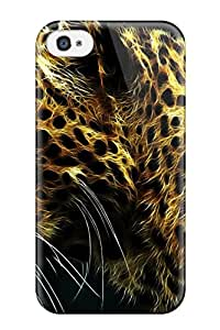Fashionable Style Case Cover Skin For Iphone 4/4s- Digital Leopard