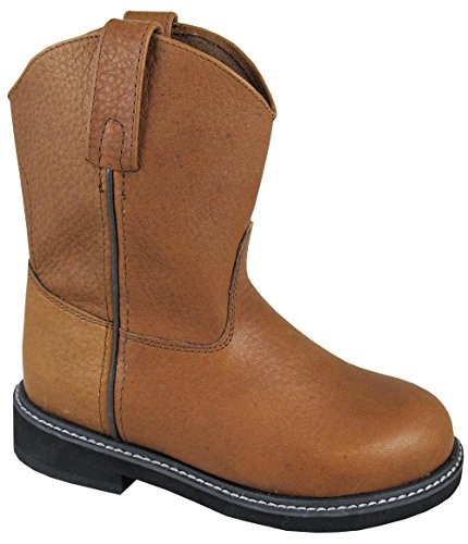 Smoky Mountain Boys' Jackson Leather Wellington Western Boot Round Toe Brown 5 D(M) US Childrens Round Toe Boot