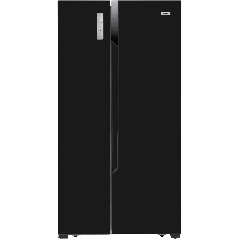 American Side By Side Fridge Freezer Part - 36: Fridgemaster MS91518FFB Black Side-by-side American Fridge Freezer