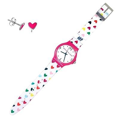 Juego Agatha Ruiz de la Prada reloj AGR219 pendientes plata [AB6022] - Modelo: AGR219: Amazon.es: Joyería