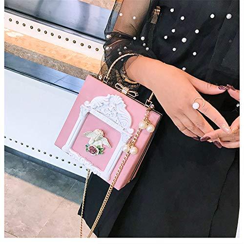Para En Mujeres Pink Vestido Embragues Banquete Relieve Bolso Bolsa Banquete Monedero Club Metal De Lxmhz Angel Embrague Las white Noche Boda qPIZYnxRS