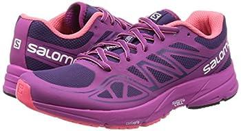 Salomon Women's Sonic Aero W Running Shoe, Cosmic Purpleazalee Pinkmadder Pink, 9 B Us 4