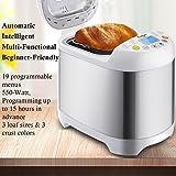 Bread Machine - Stainless Steel 2LB 550W Electric Programmable Breadmaker