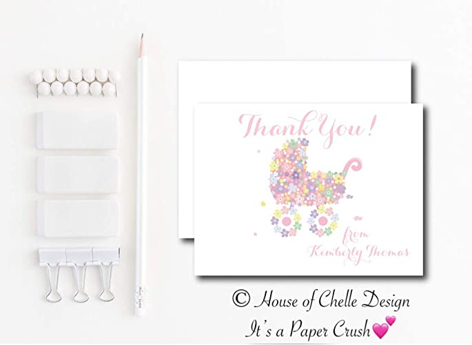 personalized baby shower thank you cards baby shower thank you notes set of 12