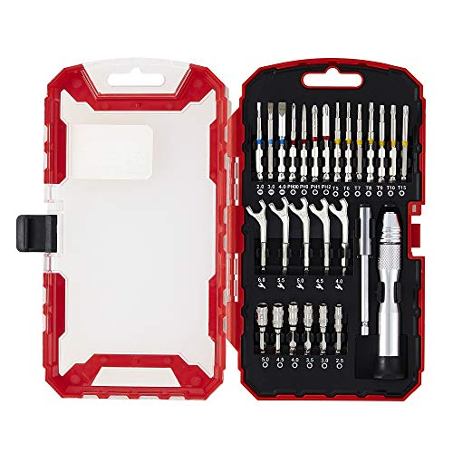 - Lichamp Precision Socket and Open-End Wrench Set, 27-Piece Quick Change Small Screwdriver Bits, Sockets and Mini Wrench Set, Household Repair Hand Tool Kit Plastic Toolbox Storage Case (8203)