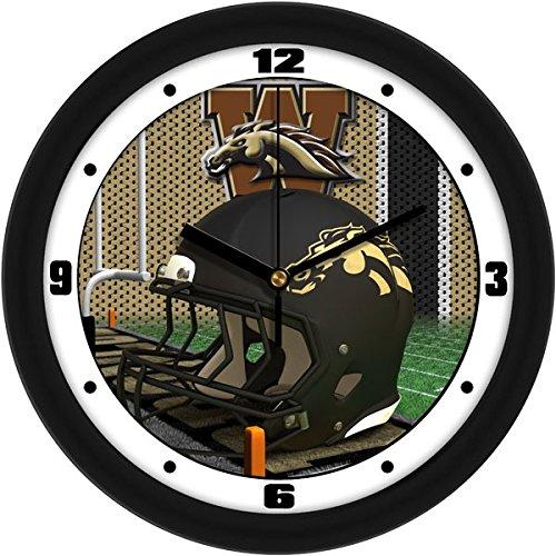 - SunTime NCAA Western Michigan Broncos Helmet Wall Clock