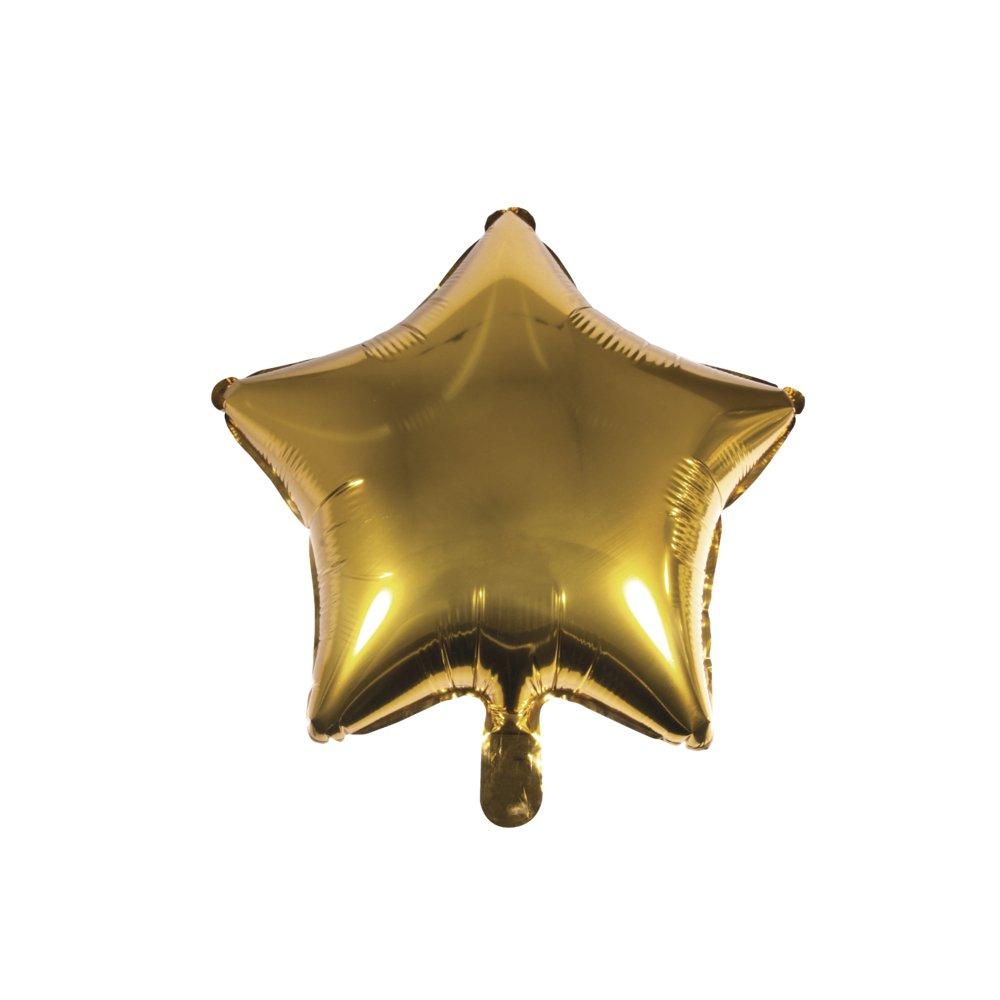 XXL Partyballon f/ür Heliumf/üllung und Luftf/üllung geeignet 46 x 49cm Rayher 87013616 Folienballon Herz gold