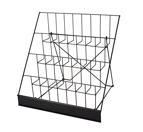 FixtureDisplays 4-Tiered Book Signing Rack, CD Display, 18