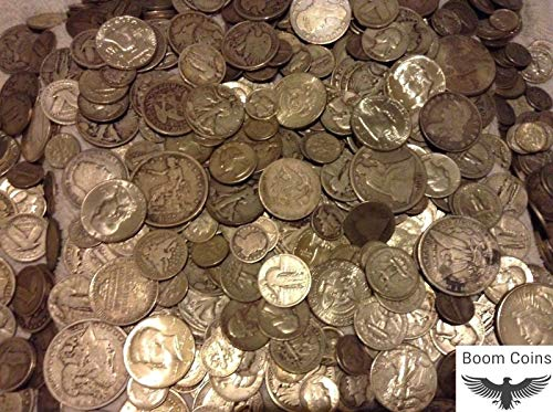 1 Ounce 90% Silver Best 90% Silver Grab Bag Coin LOT Brilliant Uncirculated Silver Coin in Your lot, One Silver Half Dollar, Coin Made During The Great Depression, Walking Liberty Halves, Barber