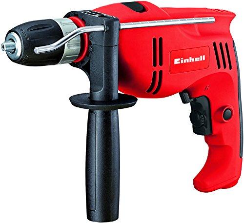 Einhell Schlagbohrmaschine TC-ID 710 E (710 W, Bohrleistung Ø Holz  25 mm, Beton 13mm, Metall 10 mm, Metall-Tiefenanschlag, Gürtelhaken)