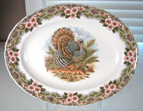 "Queen's Myott by Churchill Thanksgiving Turkey Platter 13"" x 10"""