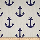P. Kaufmann Indoor/Outdoor Ahoy Blue Marine Fabric By The Yard