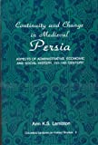Continuity and Change in Medieval Persia 9780887061349