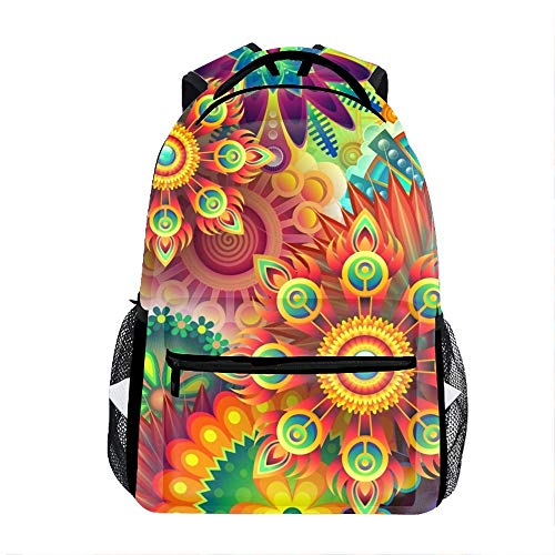 School bags Colorful Abstract school backpack for girls Schoolbag backpacks for kids (10 -