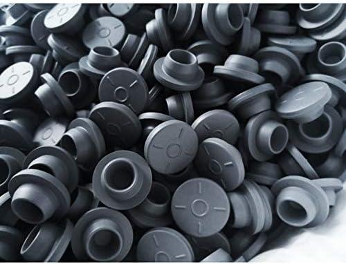 JNT 100pcs 20mm Butyl Rubber Stopper medizinischer Gummi for Vials Gummidichtung Injektionsgl/äser Stopper Gummikappe Grau Farbe