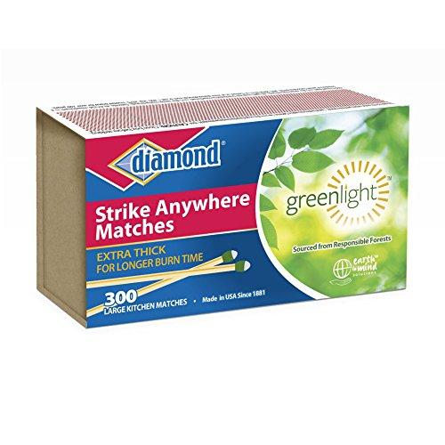 48789-02225 300-Ct Diamond Saw Green Light Strike On Box Singles Matches