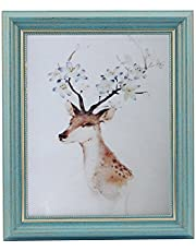 HUIXIANG Photo Frames Picture Frames Freestanding and Wall Mountable Vintage Photo Frame Rerto Style, for Her for Wife, Birthday Gifts for Grandma or Friends. Turquoise/Blue