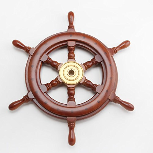 舵輪18 STEERING WHEEL 真鍮 船舶 B016AXK9MO