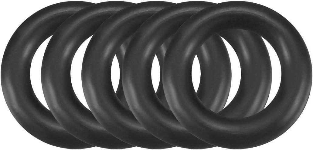 butadi/ène nitrile NBR j torique 9mm OD 1,9mm largeur sourcingmap 50pc Noir Rond Caout