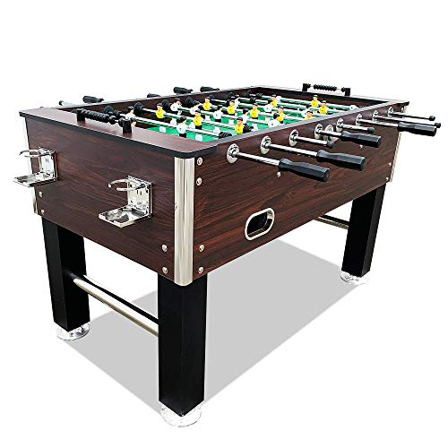 "T&R sports 60"" Soccer Foosball Table Heavy Duty for Pub Game Room with Drink Holders, Espresso..."