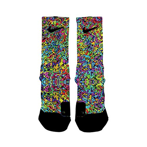 HoopSwagg Graffiti Custom Elite Socks Large