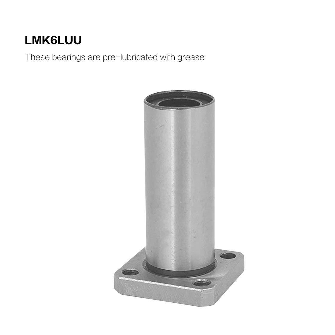 1 UNID LMK6LUU dr: 6mm Tipo de Brida Cuadrada Larga Bujes de ...