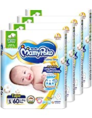 MamyPoko Extra Dry Tape Organic Small, 60 count (Pack of 4), 240 count