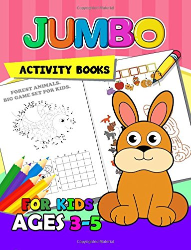 Jumbo Activity Books For Kids Ages 3 5 Activity Book For Boy Girls