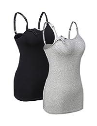 Women's Nursing Cami Nursing Tank Tops Breastfeeding S-XL 1PCS/2PCS/3PCS/Pack