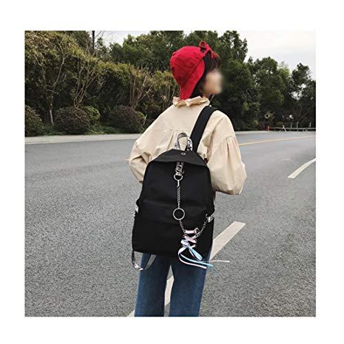 2 Zackback Studente Rosso2 Peso Felicioo® grande grande scuola capacità Fashion Nero leggero multifunzione superiore Catena Zaino wBqIZp