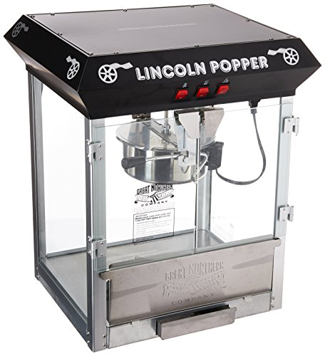 Great Northern Popcorn Black Bar Style Lincoln 8 Ounce Antique Popcorn Machine (Bar ()
