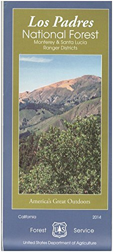 Los Padres National Forest Map - Map: Los Padres National Forest Monterey (North)