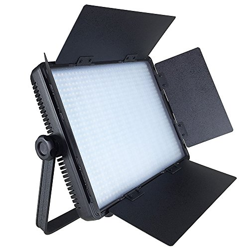 ePhotoInc 110V-240V Dimmable Video Photo Studio DSLR Camera Photography Barndoor Light Panel with Sony V mount Plate CN900SA by ePhotoinc